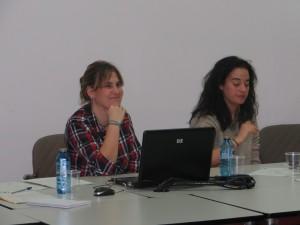 Nerea y Juncal en 1º Grupo Trabajo