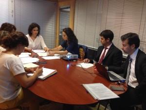 Momento da Reunión do Comité de Seguimiento en Compostela